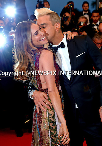 16.05.2015; Cannes France: ROBBIE WILLIAMS AND WIFE AYDA FIELD<br />all loved-up at the &quot;Sea Of Trees&quot; screening at the 68th Cannes Film Festival.<br />Mandatory Credit Photo: &copy;Franck Castel/NEWSPIX INTERNATIONAL<br /><br />**ALL FEES PAYABLE TO: &quot;NEWSPIX INTERNATIONAL&quot;**<br /><br />PHOTO CREDIT MANDATORY!!: NEWSPIX INTERNATIONAL(Failure to credit will incur a surcharge of 100% of reproduction fees)<br /><br />IMMEDIATE CONFIRMATION OF USAGE REQUIRED:<br />Newspix International, 31 Chinnery Hill, Bishop's Stortford, ENGLAND CM23 3PS<br />Tel:+441279 324672  ; Fax: +441279656877<br />Mobile:  0777568 1153<br />e-mail: info@newspixinternational.co.uk
