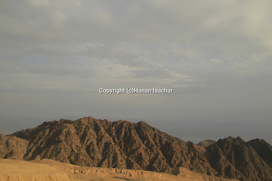 Israel, Eilat Mountains, a view of Mount Shlomo