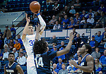 February 15, 2017:  Air Force forward, Hayden Graham #35, takes a shot during the NCAA basketball game between the University of Nevada Wolfpack and the Air Force Academy Falcons, Clune Arena, U.S. Air Force Academy, Colorado Springs, Colorado.  Nevada defeats Air Force 78-59.