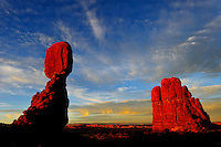 Balanced Rock sunset in Utah's Arches national Park