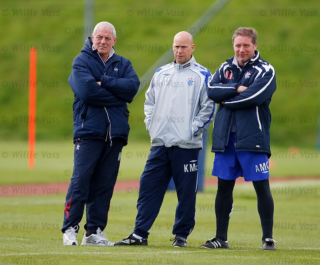 Walter Smith, Kenny McDowall and Ally McCoist