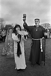 Avebury Wiltshire, Druid wedding blessings. 1996. Blessing sacred bread.