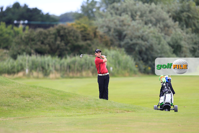 Eoin Leonard (Wentworth/Killiney) on the 2nd fairway during Round 4 of the Leinster Boys Amateur Open Championship at Balcarrick Golf Club on Thursday 30th July 2015.<br /> Picture:  Golffile | Thos Caffrey