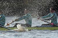 PUTNEY, LONDON, ENGLAND, 05.03.2006, Pre 2006 Boat Race Fixtures,.   © Peter Spurrier/Intersport-images.com, Cambridge, CUBC, B No.5 Sebastian Schulte, No.6 Kieran West, [Mandatory Credit Peter Spurrier/ Intersport Images] Varsity Boat Race, Rowing Course: River Thames, Championship course, Putney to Mortlake 4.25 Miles