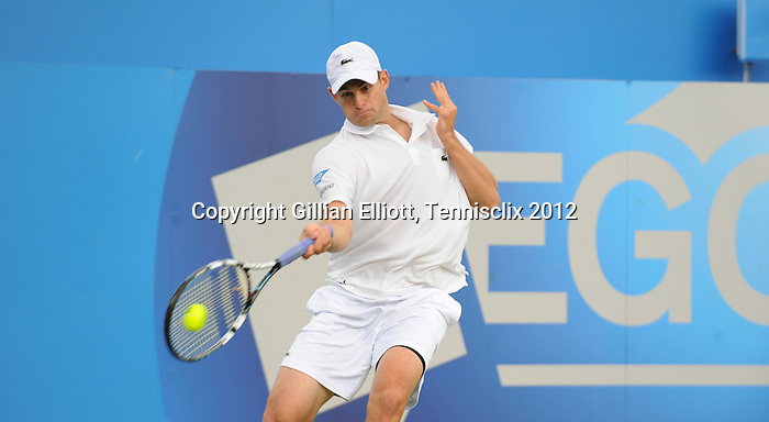 Andy Roddick (USA) is defeated at Aegon at Queens