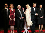 "Nick Choksi, Holley Fain, Henry Winkler, Anne Heche, Alec Baldwin and Julie Halston during the Roundabout Theatre Company One-Night Only Benefit Reading Curtain Call for  ""Twentieth Century"" at Studio 54 on April 29, 2019 in New York City."