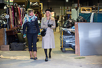 Pamela Anderson visits a refugees warehouse in Calais - France - EXCLU
