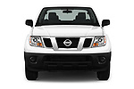 Car photography straight front view of a 2017 Nissan Frontier S-King-Cab 4 Door Pickup Front View