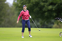 Claire Canning (Malone) during the final  of the Ulster Mixed Foursomes at Killymoon Golf Club, Belfast, Northern Ireland. 26/08/2017<br /> Picture: Fran Caffrey / Golffile<br /> <br /> All photo usage must carry mandatory copyright credit (&copy; Golffile | Fran Caffrey)