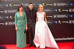 San Sebastian, Spain, 20/09/2013<br />  Alfombra roja de la Gala Inaugural del 61 International Film Festival<br />  Barbara Goenaga, Unax Ugalde