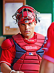 "28 August 2010: Washington Nationals catcher Ivan ""Pudge"" Rodriguez stands in the dugout prior to a game against the St. Louis Cardinals at Nationals Park in Washington, DC. The Nationals defeated the Cards 14-5 to take the third game of their 4-game series. Mandatory Credit: Ed Wolfstein Photo"