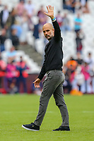 Pep Guardiola (Manager) of Manchester City after the Premier League match between West Ham United and Manchester City at the London Stadium, London, England on 10 August 2019. Photo by David Horn.