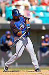 15 March 2006: Victor Diaz, outfielder for the New York Mets, at bat during a Spring Training game against the Washington Nationals. The Mets defeated the Nationals 8-5 at Space Coast Stadium, in Viera, Florida...Mandatory Photo Credit: Ed Wolfstein..