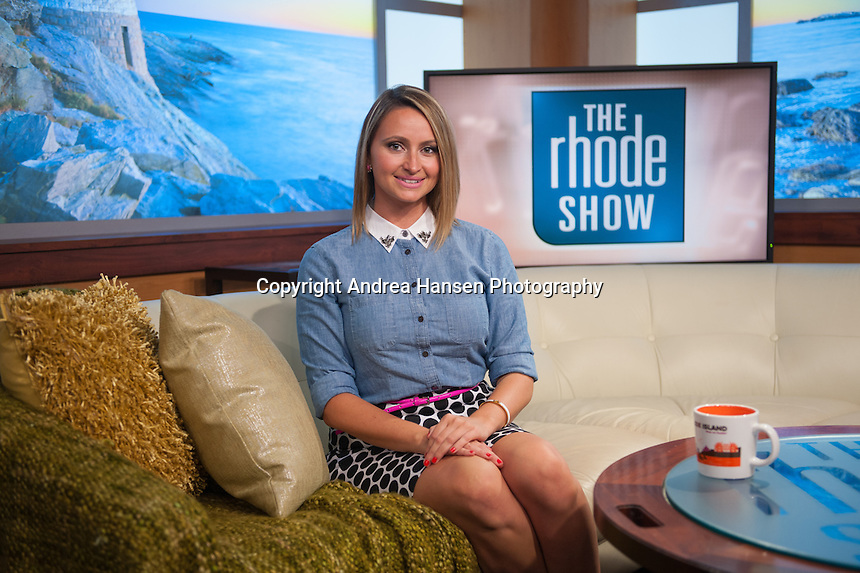 Ashley Erling, executive producer of the Rhode Show, at the WPRI studios in Providence, RI.