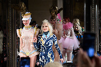 Pam Hogg at the Pam Hogg show during London Fashion Week AW18, at the Freemasons' Hall in London, UK. <br /> 16 February  2018<br /> Picture: Steve Vas/Featureflash/SilverHub 0208 004 5359 sales@silverhubmedia.com