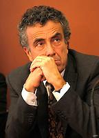 NAPOLI IL GOVERNO PRESENTA IL PROGETTO POMPEI .NELLA FOTO IL MINISTRO STEFANO BARCA.FOTO CIRO DE LUCA