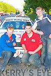 Tim Allman, Finbar OMahony and Shane Buckley, Killarney, get revved up at the Rally of the Lakes in Killarney last Friday evening..