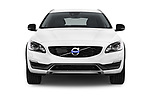 Car photography straight front view of a 2017 Volvo V60-Cross-Country Summum 5 Door Wagon Front View