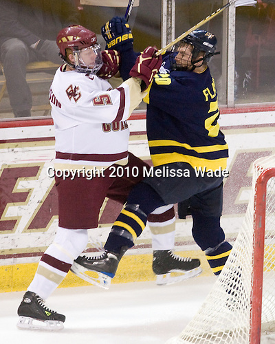 Philip Samuelsson (BC - 5), Ryan Flanigan (Merrimack - 20) - The Boston College Eagles defeated the Merrimack College Warriors 7-0 on Tuesday, February 23, 2010 at Conte Forum in Chestnut Hill, Massachusetts.