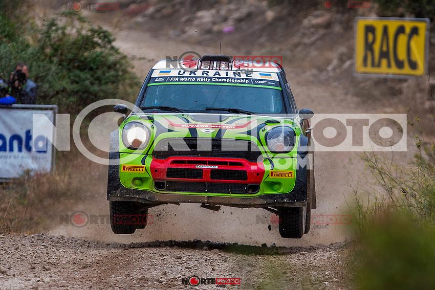GORBAN Valeriy / KORSIA Volodymyr (BMW-MINI John Cooper Works WRC) during the World Rally Car RACC Catalunya Costa Dourada 2016 / Rally Spain, in Catalunya, Spain. October 15, 2016. (ALTERPHOTOS/Rodrigo Jimenez) NORTEPHOTO.COM