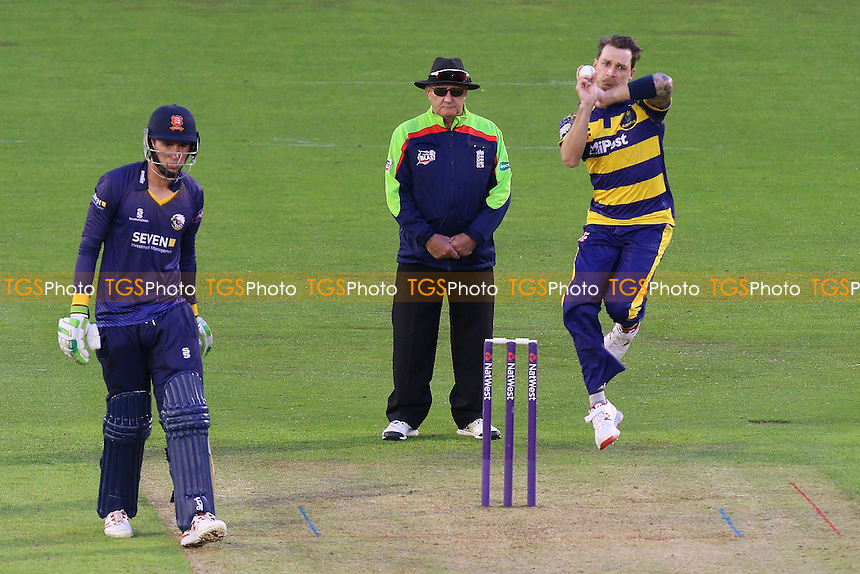 Dale Steyn in bowling action for Glamorgan during Glamorgan vs Essex Eagles, Nat West T20 Blast Cricket at the SSE SWALEC Stadium on 1st June 2016