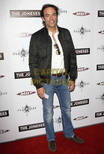 "ANTHONY DELON.""The Joneses"" Los Angeles Premieree held At The Arclight Theatres, Hollywood, California, USA..April 8th, 2010.full length jeans denim black jacket white top .CAP/ADM/KB.©Kevan Brooks/AdMedia/Capital Pictures."