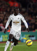 Pictured: Modou Barrow of Swansea Sunday 01 February 2015<br /> Re: Premier League Southampton v Swansea City FC at St Mary's Ground, Southampton, UK.