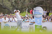 Rafa Cabrera Bello (ESP) on the 5th tee during the second round of the Mutuactivos Open de Espana, Club de Campo Villa de Madrid, Madrid, Madrid, Spain. 04/10/2019.<br /> Picture Hugo Alcalde / Golffile.ie<br /> <br /> All photo usage must carry mandatory copyright credit (© Golffile | Hugo Alcalde)