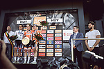 Race favourite Anna Van Der Breggen (NED) Boels Dolmans Cycling Team wins her 4th consecutive victory at La Fleche Wallonne Femmes 2018 running 118.5km from Huy to Huy, Belgium. 18/04/2018.<br /> Picture: ASO/Thomas Maheux | Cyclefile.<br /> <br /> All photos usage must carry mandatory copyright credit (&copy; Cyclefile | ASO/Thomas Maheux)