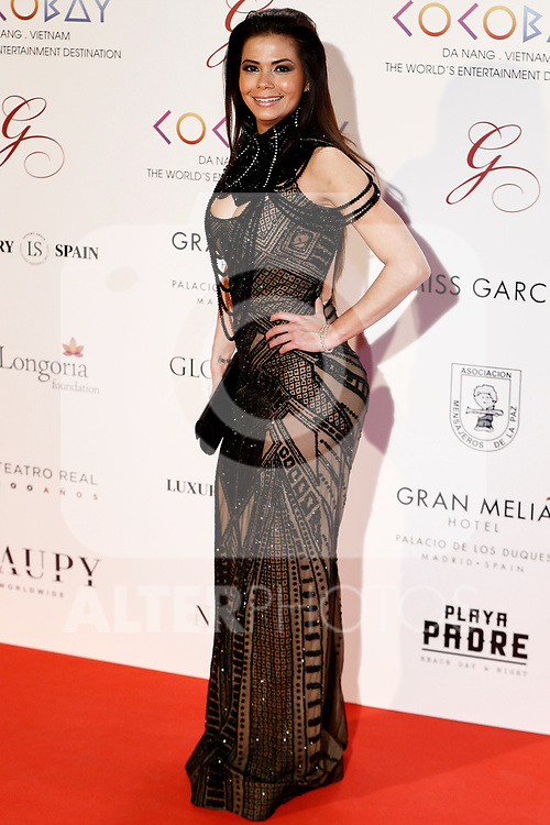 Rebeca Liscano attends the photocall of the second Global Gift gala at the Royal Theater in Madrid, Spain. April 04, 2017. (ALTERPHOTOS / Rodrigo Jimenez)