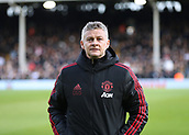 9th February 2019, Craven Cottage, London, England; EPL Premier League football, Fulham versus Manchester United; Manchester United Manager Ole Gunnar Solskjaer looking on
