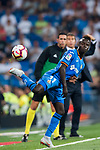 Amath Ndiaye Diedhiou of Getafe CF in action during the La Liga 2018-19 match between Real Madrid and Getafe CF at Estadio Santiago Bernabeu on August 19 2018 in Madrid, Spain. Photo by Diego Souto / Power Sport Images