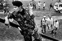 colombia1043 - FARC troops. La Macarena, june 2001<br />