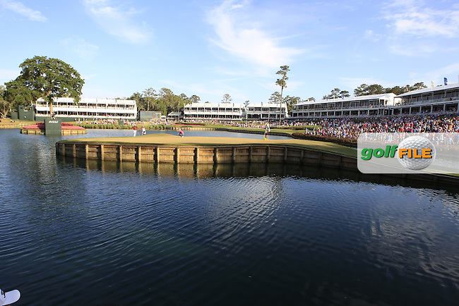 Jason day (AUS) and Hideki Matsuyama (JAP) walking onto the 17th green during the final round of the Players, TPC Sawgrass, Championship Way, Ponte Vedra Beach, FL 32082, USA. 15/05/2016.<br /> Picture: Golffile | Fran Caffrey<br /> <br /> <br /> All photo usage must carry mandatory copyright credit (&copy; Golffile | Fran Caffrey)