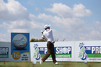 Damien McGrane (IRL) drives from the 16th during Round Two of The Tshwane Open 2014 at the Els (Copperleaf) Golf Club, City of Tshwane, Pretoria, South Africa. Picture:  David Lloyd / www.golffile.ie