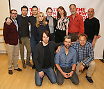 Adam Bernstein, Noah Bean, Jonny Orsini, Zosia Mamet, Alex Hurt, Grace Van Patten, Dolly Wells, Hamish Linklater, Jon Devries, Norbert Leo Butz and Scott Elliott attend the photo call for The New Group's World Premiere of Hamish Linklater's 'The Whirligig'  at the New 42nd Street Studios on April 3, 2017 in New York City.