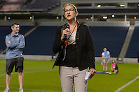 Chicago, IL - Saturday July 30, 2016: Alyse LaHue after a regular season National Women's Soccer League (NWSL) match between the Chicago Red Stars and FC Kansas City at Toyota Park.