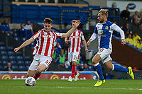 Blackburn Rovers' Harry Chapman competing with Stoke City U23s' Cameron McJannett <br /> <br /> Photographer Andrew Kearns/CameraSport<br /> <br /> The EFL Checkatrade Trophy - Blackburn Rovers v Stoke City U23s - Tuesday 29th August 2017 - Ewood Park - Blackburn<br />  <br /> World Copyright &copy; 2018 CameraSport. All rights reserved. 43 Linden Ave. Countesthorpe. Leicester. England. LE8 5PG - Tel: +44 (0) 116 277 4147 - admin@camerasport.com - www.camerasport.com
