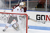 John Muse (BC - 1), Steve Quailer (Northeastern - 10) - The Northeastern University Huskies defeated the visiting Boston College Eagles 2-1 on Saturday, February 19, 2011, at Matthews Arena in Boston, Massachusetts.