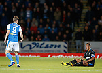 Bruno Alves looks up at Steven MacLean after being fouled