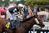 June 10th 2017, Chester Racecourse, Cheshire, England; Chester Races Horse racing Jockey William Carson riding Luv U Whatever in the Crabbies Handicap Stakes