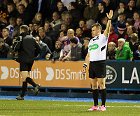 Referee Nigel Owens<br /> <br /> Photographer Simon King/CameraSport<br /> <br /> Guinness Pro14 Round 6 - Cardiff Blues v Dragons - Friday 6th October 2017 - Cardiff Arms Park - Cardiff<br /> <br /> World Copyright &copy; 2017 CameraSport. All rights reserved. 43 Linden Ave. Countesthorpe. Leicester. England. LE8 5PG - Tel: +44 (0) 116 277 4147 - admin@camerasport.com - www.camerasport.co