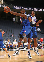 Joseph Uchebo at the NBPA Top100 camp June 18, 2010 at the John Paul Jones Arena in Charlottesville, VA. Visit www.nbpatop100.blogspot.com for more photos. (Photo © Andrew Shurtleff)