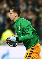 Football Soccer: UEFA Champions League -Group Stage-  Group H - Juventus vs Manchester United, Allianz Stadium. Turin, Italy, November 07, 2018.<br /> Juventus' goalkeeper Wojciech Szczesny warms up prior to the Uefa Champions League football soccer match between Juventus and Manchester United at Allianz Stadium in Turin, November 07, 2018.<br /> UPDATE IMAGES PRESS