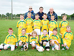 Duleek/Bellewstown C under 10 team pictured with Meath Captain Seamus Kenny pictured at the GAA blitz at Bellewstown. Photo: Colin Bell/pressphotos.ie