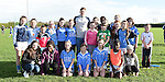 Dublin player Paul Flynn with the girls of Newtown Blues GFC. Photo:Colin Bell/pressphotos.ie