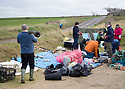 19/01/19<br /> <br /> Plastic rubbish collected and sorted.<br /> <br /> Volunteers clean beaches near Cable Bay Anglesey to mark the RSPCA's 'PlastOff2019'<br /> <br /> All Rights Reserved, F Stop Press Ltd +44 (0)7765 242650  www.fstoppress.com rod@fstoppress.com