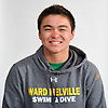 David He of Ward Melville poses for a portrait during Newsday's All-Long Island boys swimming photo shoot at company headquarters in Melville on Friday, March 23, 2018.
