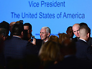 "Washington, DC - March 9, 2017: Vice President Mike Pence greets attendees of the ""Make Small Business Great Again Policy Summit"" hosted by the Latino Coalition at the J.W. Marriott Hotel in the District of Columbia, March 9, 2017.  (Photo by Don Baxter/Media Images International)"