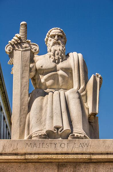 Majesty of Law Statue Washington DC